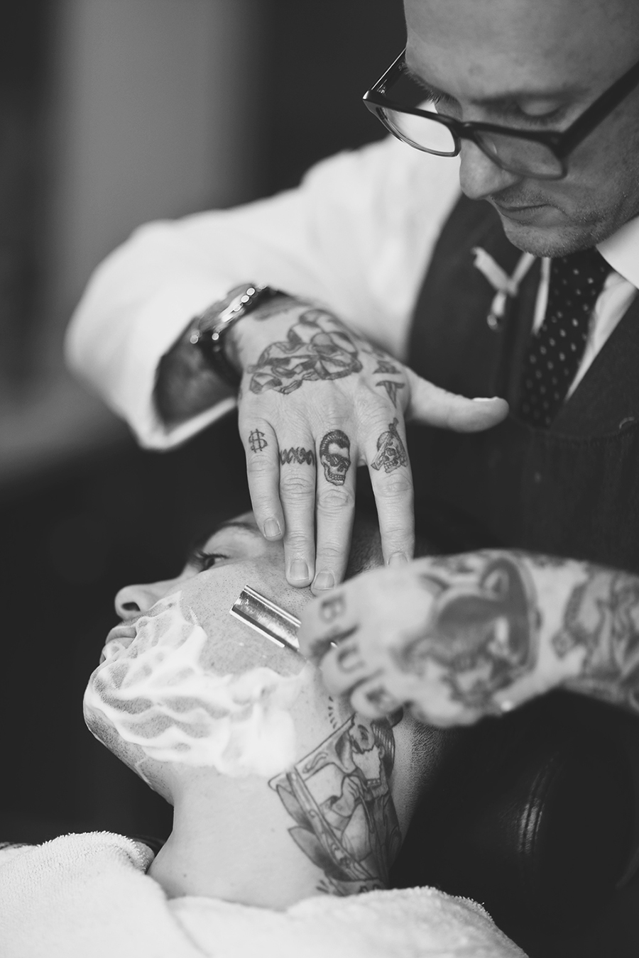 Michelle Moore photographs Seattle Barbershop The Scotch Pine