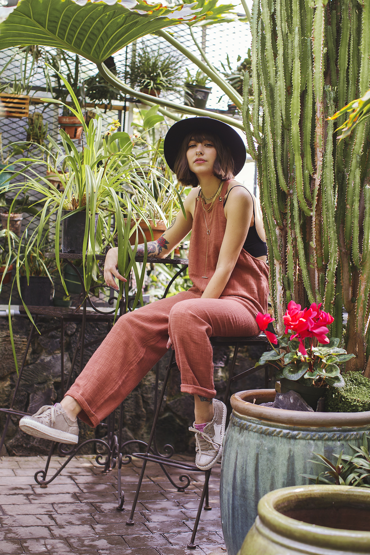 Michelle Moore for Free People on location at Tacoma WW Seymour Conservatory