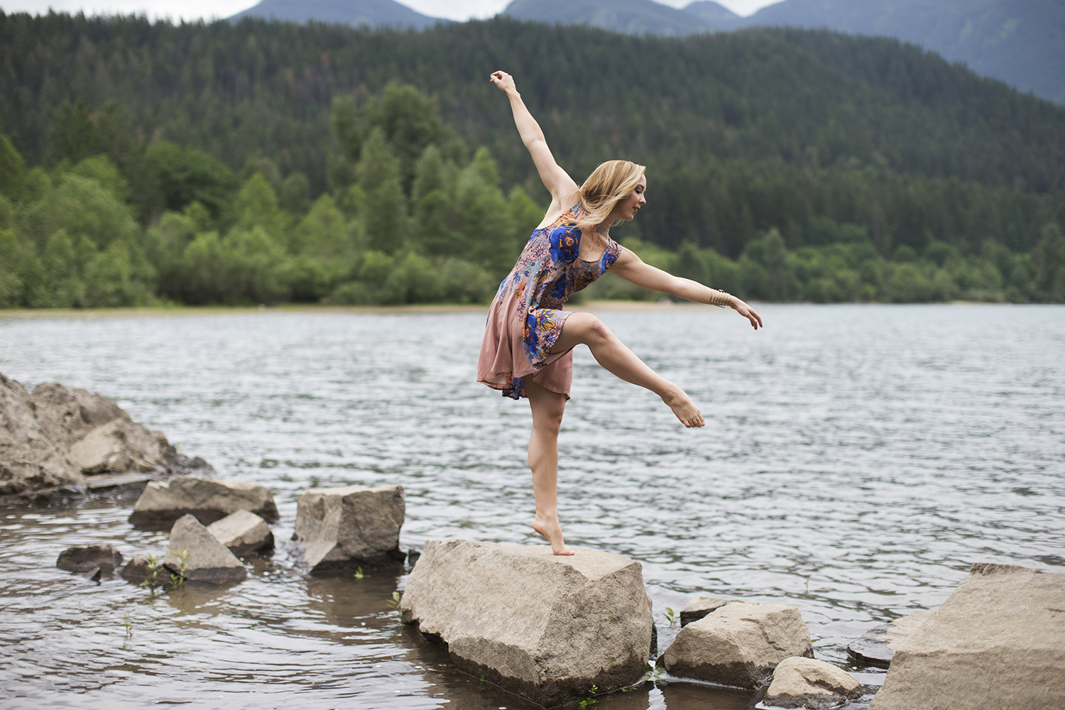 Michelle Moore photographs for Free People at Rattlesnake Lake Seattle Washington