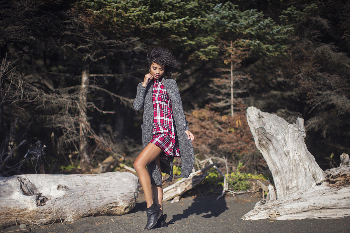 Seattle Fashion photographer Michelle Moore on location