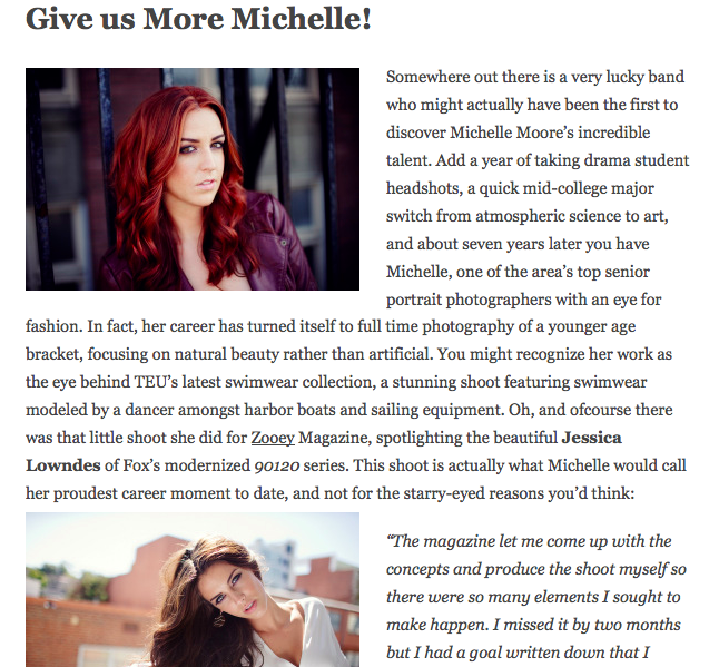 The Glamour Wire Interviews Michelle Moore