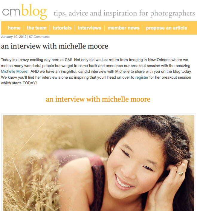 Clickin Moms January 2012 Michelle Moore Interview