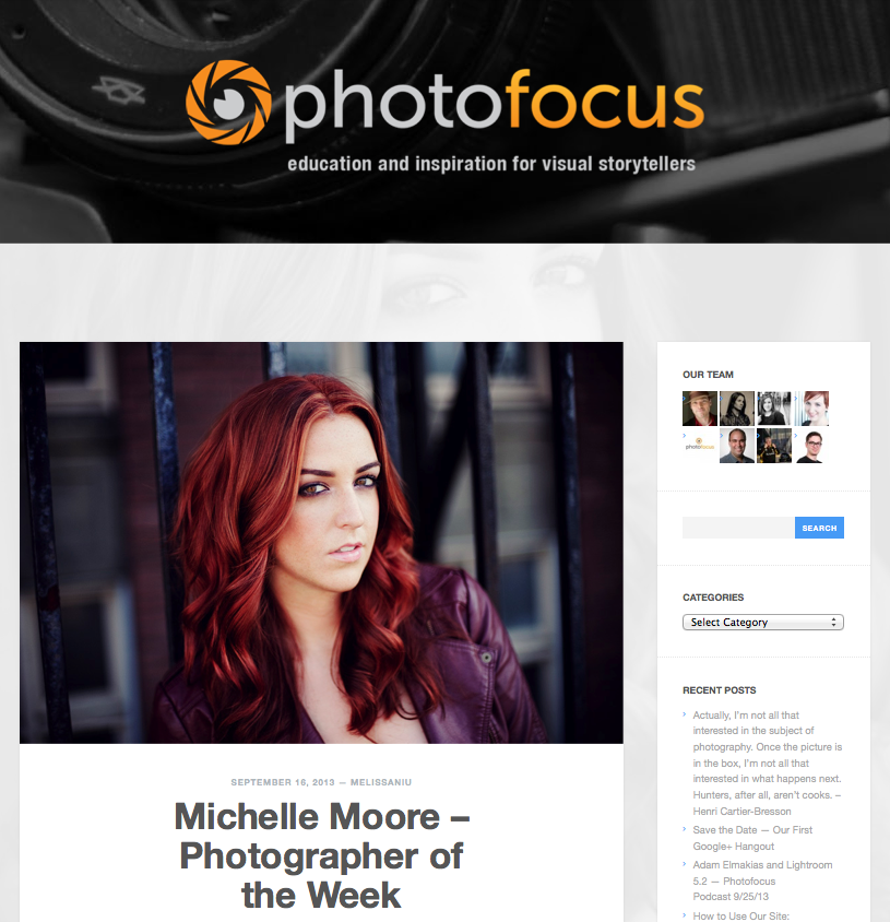 Michelle Moore Photofoucs Photographer of the Week