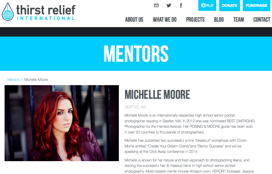 Thirst Relief Mentor Auction Michelle Moore 2014