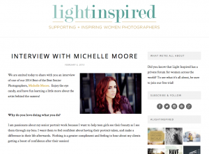 Light Inspired Interview with Michelle Moore