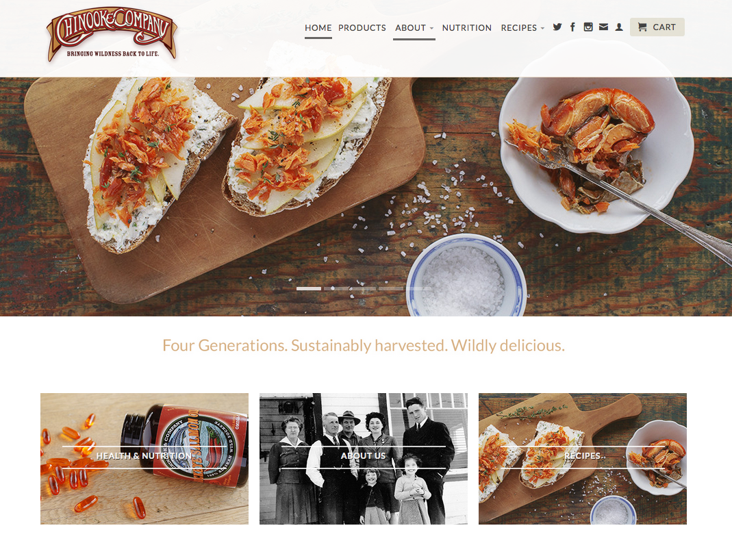 Chinook & Company Website Launch