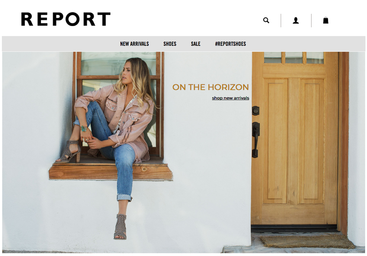 Report shoes spring footwear campaign featuring Nicole Kay clark