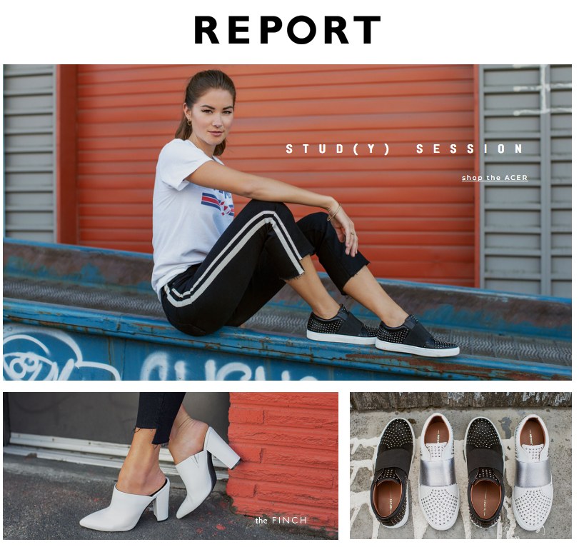 Report Shoes tear sheet Fall 2018 campaign