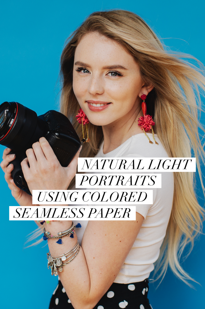 Natural light portraits using seamless paper