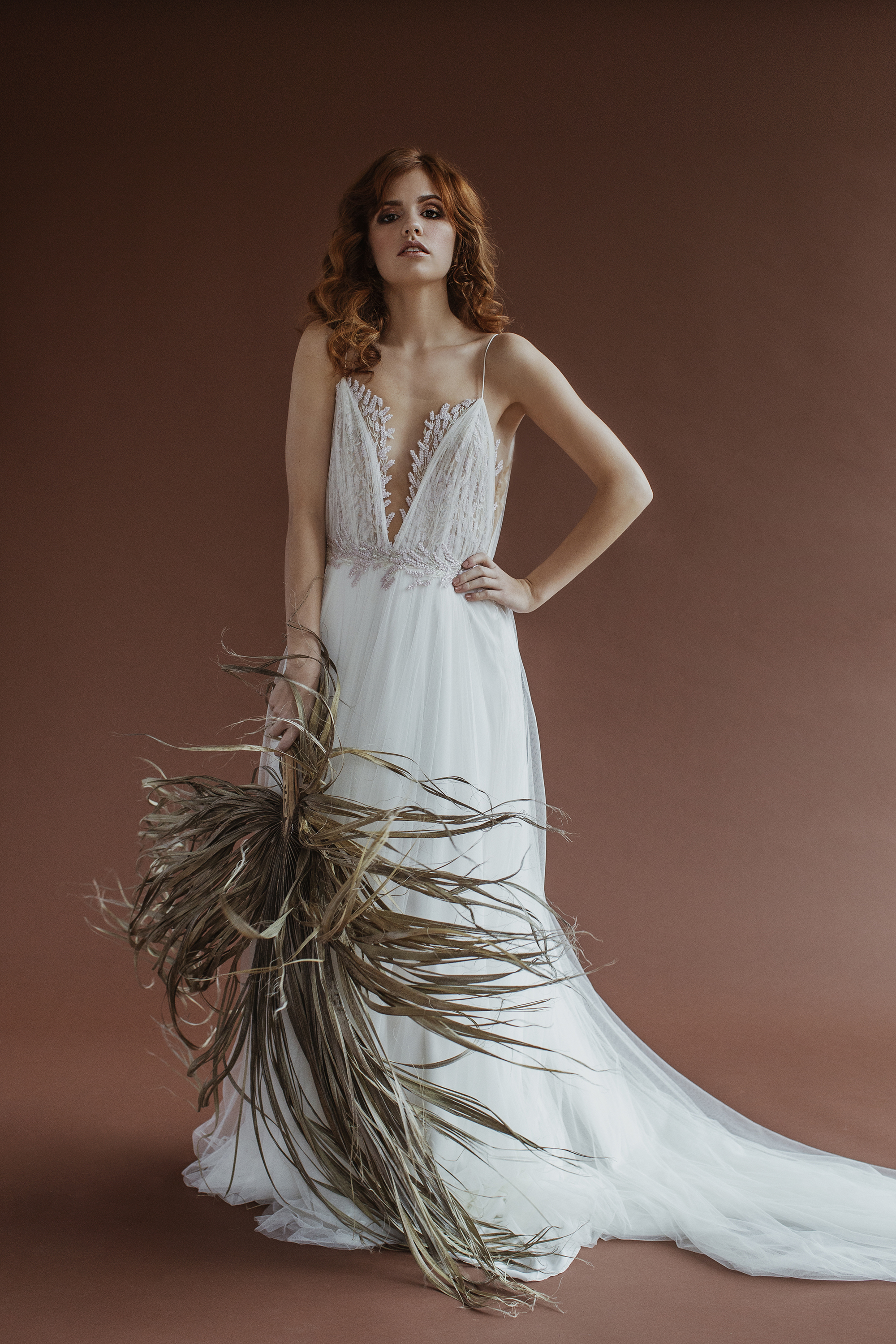 Heather gown from Anna Kara in the studio