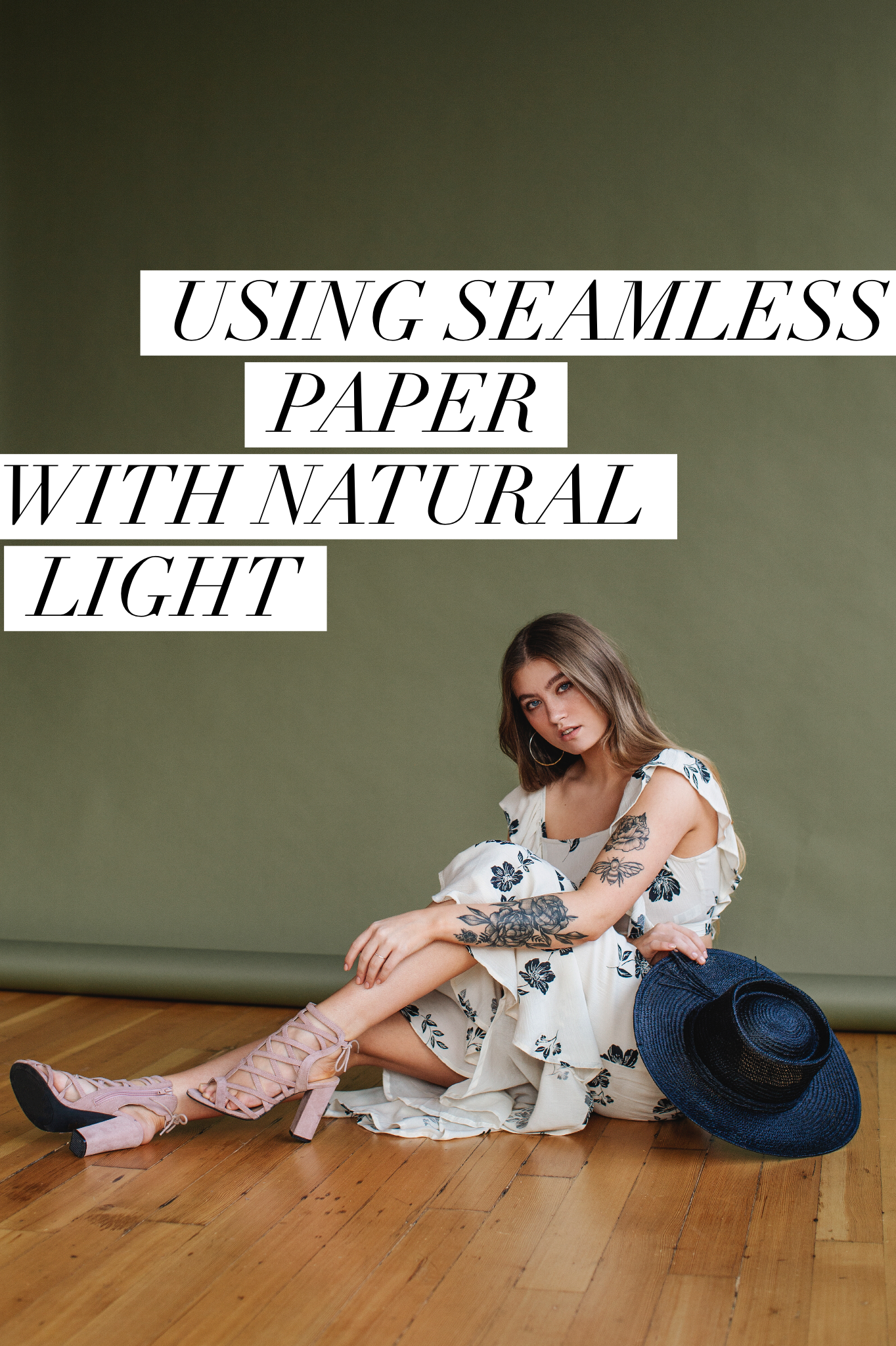 Using Savage Seamless paper with natural light