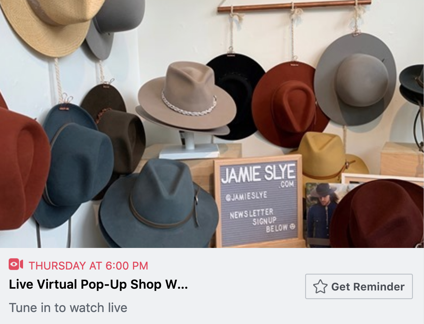 Have a live virtual pop up to promote your business